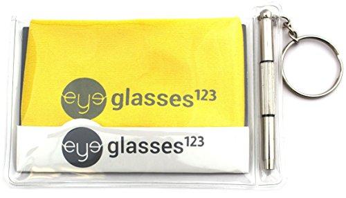 Eyeglass Retainer & Sunglass Holder By Peeper Keepers Light Classic Beads, Assortment Light Classic, 3pk mix   w/Microfiber Cloth & Screwdriver