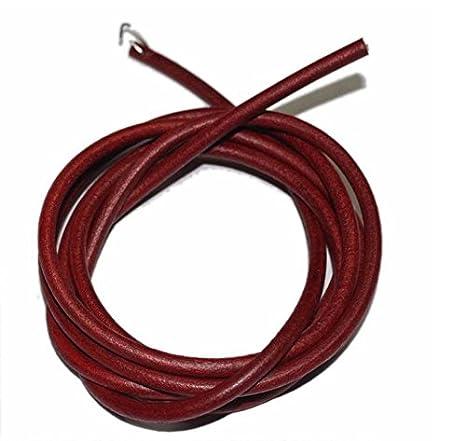 Brun, 4mm. CNFQ Cordon en Cuir pour Machine /à Coudre Lien en Cuir 4mm 5mm 6mm