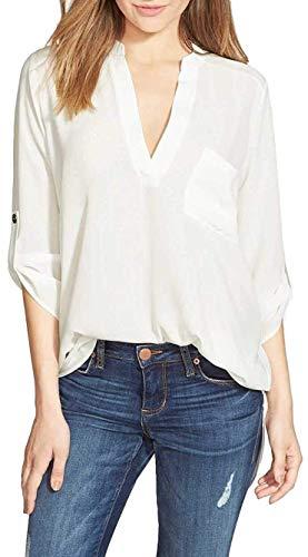 Roll Sleeve Striped Shirt - 9