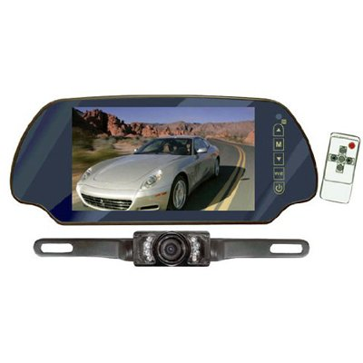 Pyle 7-Inch TFT Mirror Monitor with Rearview Night Vision Camera from The Rear View Camera Center