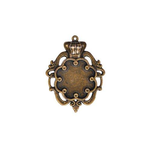 Edged Bezels - Spellbinders GLLB-003G A Gilded Life Crown Bezel, Large - Bronze