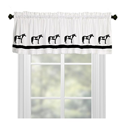 Horse Window Valance Curtain - In Your Choice of Colors - Custom Made ()