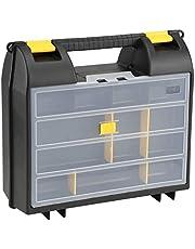 Stanley 1-92-734 Gereedschapskoffer met organizer (36 x 14 x 33 cm, koffer voor elektrisch gereedschap, met schuimrubberen inleg voor betere grip, gereedschapskist met oog voor hangslot)