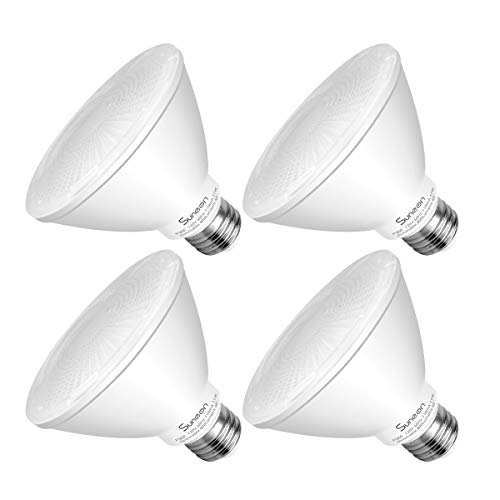 SUNEON LED Light Bulbs Par30 Short Neck LED Bulbs 75 Watt Equivalent Flood Light 11W 800Lumens 5000K Daylight White Dimmable Spot Light Bulb Track Lighting Recessed Light,Medium Base E26,4 Pack