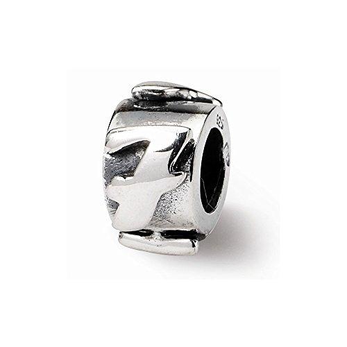 Sterling Silver Number 7 Message Bead Charm For Pandora, Biagi, Chamilia & European Bracelets
