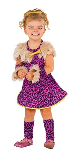 Girls Pebbles Flintstone Costumes (Rubie's Costume Pretty in Pink Cavegirl Value Child Costume, X-Small)