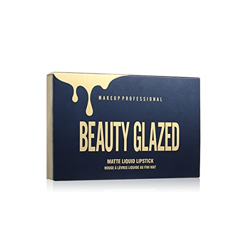 Beauty Glazed 6pcs/set Makeup Matte Lipstick Lip Kit Gloss Long Lasting Lip Stick Cosmetics mini set brithday edition kyshad