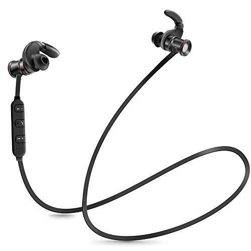 Coolreall Bluetooth Kopfhörer V4.1 Wireless Stereo Sport Headset mit Mikrofon(Schwarz)