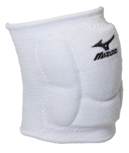 White Youth/Juniors Medium Mizuno Volleyball Knee Pads Low Rise 6'' Top of the Line (Youth Club/Rec Volleyball Players)