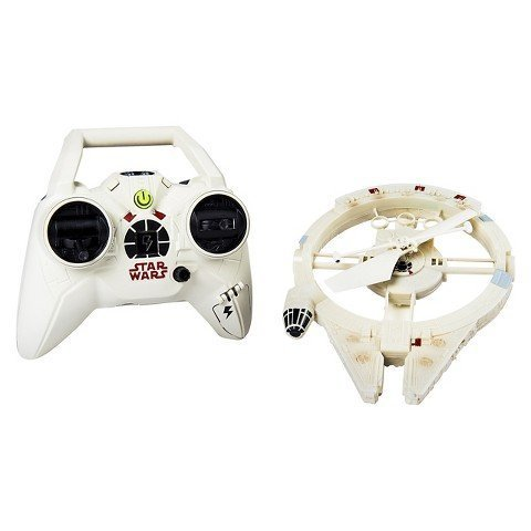 Star Wars Air Hogs Remote Control Millennium Falcon Flying Drone]()