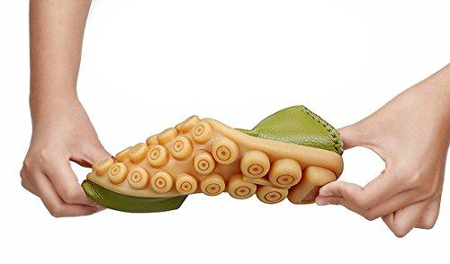 Zapatos De Las Mujeres Del Holgazán, Mocasines De Las Mujeres Suela De Goma Superior De Cuero Zapatos Planos Ocasionales Sandalias Huecas Apple Green