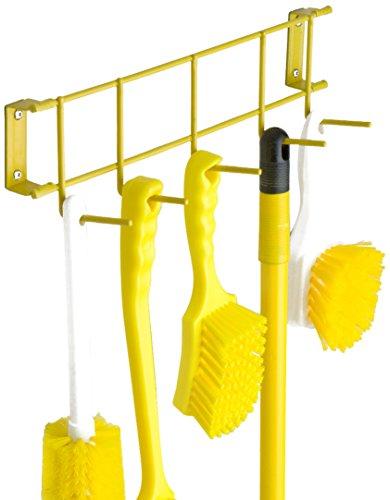UltraSource Wall-Mounted Utility/Storage Rack, 17'', Yellow by UltraSource