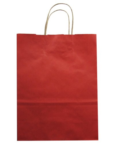 Jillson Roberts Bulk Medium Recycled Kraft Bags Available in 13 Colors, Red, 250-Count (BMK909) by Jillson Roberts