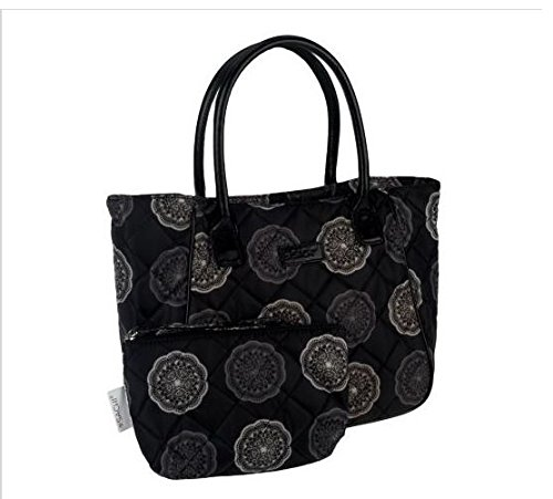 sachi-lunchin-ladies-tote-with-accessory-pouch-black-medallion