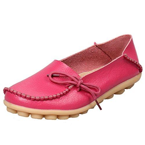 SIMPVALE - Sandalias con cuña mujer rosa/rojo