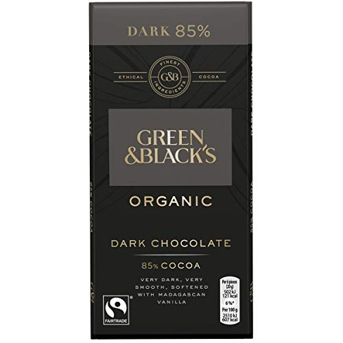 Green and Blacks Dark 85% Cocoa Bar 100g - Pack of 6 (Dark Green And Chocolate Black)