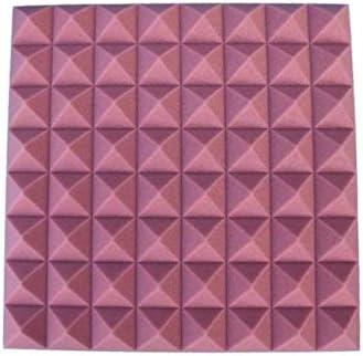 10ピース、多目的ドラムルームの音響パネル、沈黙の壁録音スタジオキャバレーホテル屋内消音綿 (Color : Purple)