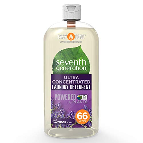 Seventh Generation Laundry Detergent Ultra Concentrated EasyDose, Fresh Lavender, 66 Loads, 1 Pack