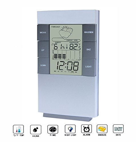 Digital Hygrometer Thermometer,Digital Alarm Clock with