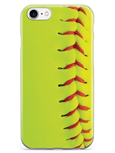 Inspired Cases - 3D Textured iPhone 8 Case - Rubber Bumper Cover - Protective Phone Case for Apple iPhone 8 - Textured Softball