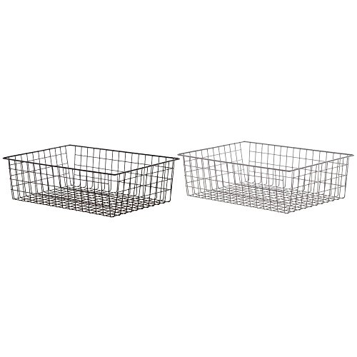 Wire Bagel Basket Rectangular Chrome Plated - 14 5/16