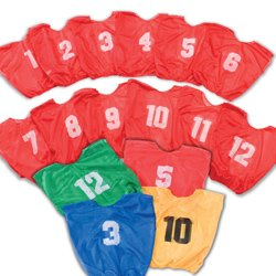 Champion Youth Numbered Scrimmage Vests - Scarlet