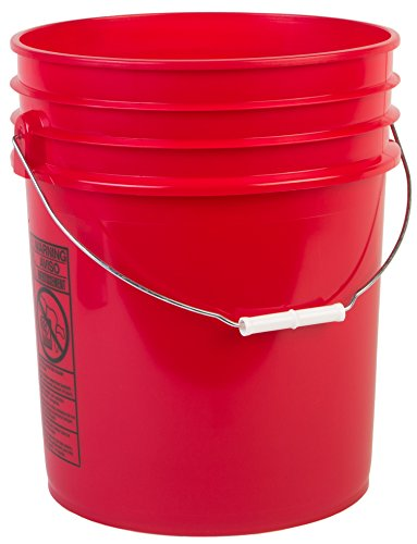 Hudson Exchange Premium 5 Gallon Bucket - HDPE - Red