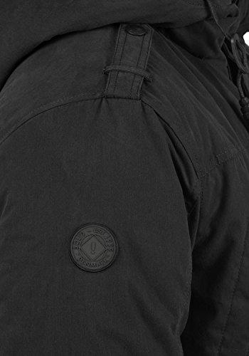 Homme Peau Pour solid Veste Capuche À 9000 Black Davido Avec Longue De D'hiver Mouton Parka Manteau UwwIvqnpP