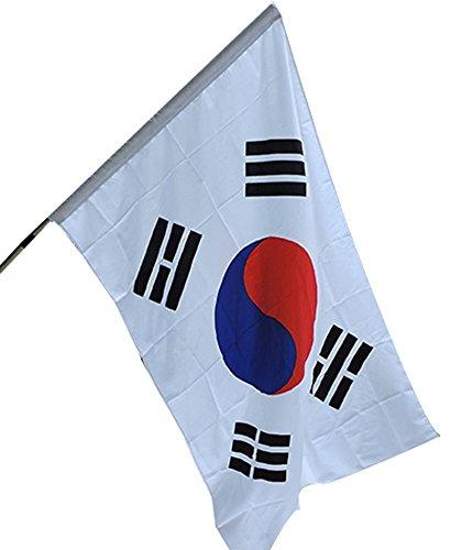 Bandera de Corea: 64 * 96cm banderas para la venta Banderas del mundo la bandera nacional roja y azul