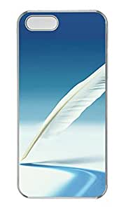 iPhone 5 5S Case Nature feather PC Custom iPhone 5 5S Case Cover Transparent by Maris's Diary