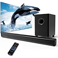 2.1 Channel Sound Bar, Wohome TV Soundbar with Subwoofers and Wireless Bluetooth(Surround Home Theater System,120W, 32 inch, 4 Speakers, 5.5 Subwoofer, 95dB, Remote Control, Model S18)