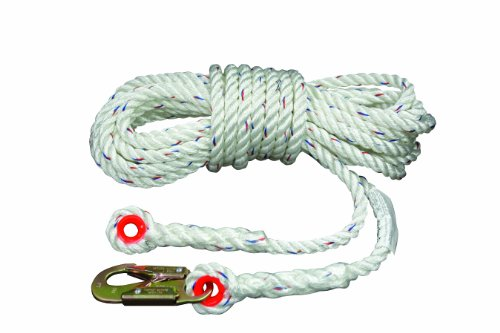 Elk River 49821 Polyester/Polypropylene Construction Plus Lifeline Rope with Snaphook and Thimble Eye Connector, 5/8