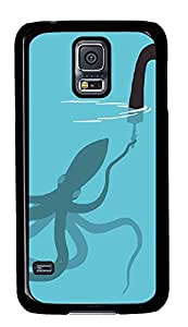 fun Samsung S5 cover Squid Loch Ness Monster Funny Picturess PC Black Custom Samsung Galaxy S5 Case Cover