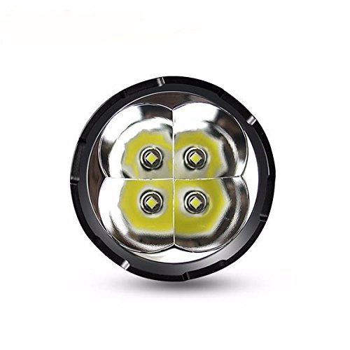 Super bright torch IMALENT DT35 Max. 8500LM 4 CREE XHP35 HI LEDs 1000 meter throw flashlight with 4pcs 18650 3000mAh batteries by IMALENT (Image #1)