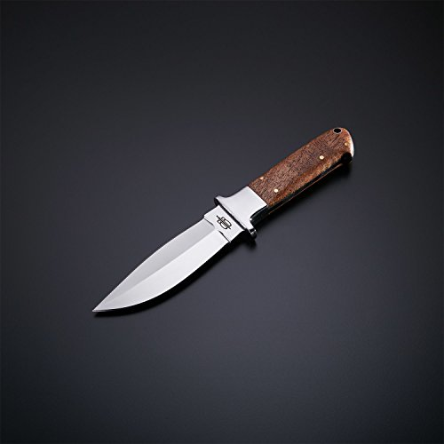 BucknBear Custom Handmade Fixed Blade 440C Stainless Hunting Knife (Walnut Wood handle)