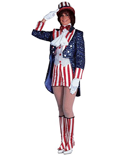 Rubie's Costume Deluxe Miss Uncle Sam Costume, Blue, Large