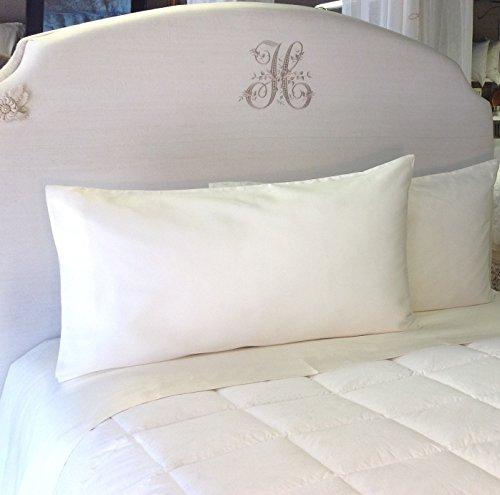 Pandora de Balthazar European Luxury Bedding Queen Sheet Set, Ivory, 600TC