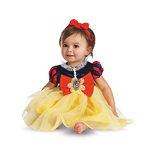Disguise My First Disney Snow White Costume, Red/Blue/Yellow, 6-12 (Groovy Baby Halloween Costume)