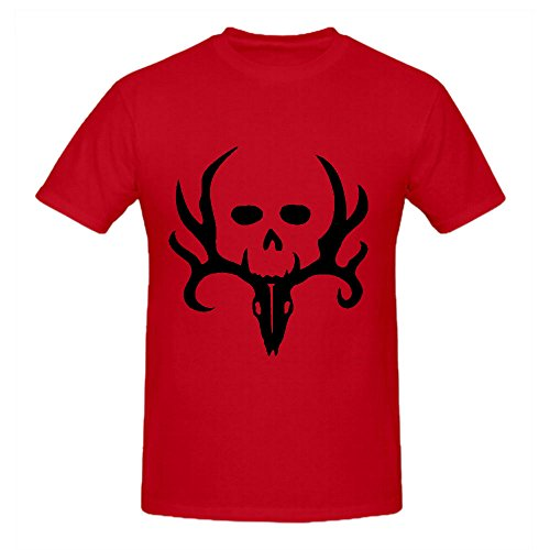 Besunset Bone Collector T Shirts For Men Crew Neck (Club Red Bone Collector)