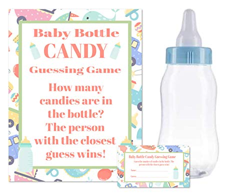 Baby Shower Bottle Game Candy Guessing Game with 11