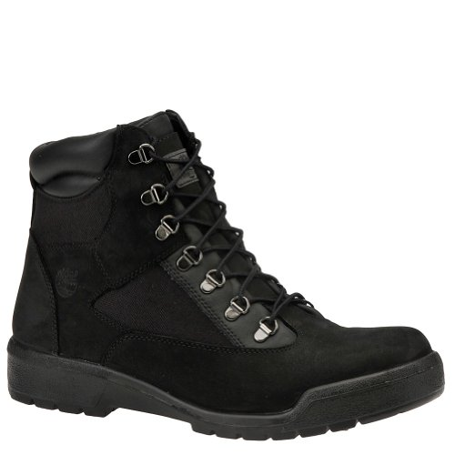 (Timberland [Field Boot 6IN-98518] 6 in Field Boot Mens Boots TIMBERLANDNONGTX FB Black Nubuck SUEDEM)