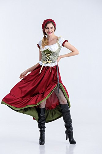 MY German Oktoberfest Costume Skirt Maid Costume Female Pirate Halloween Costume for Women (Size : M)]()
