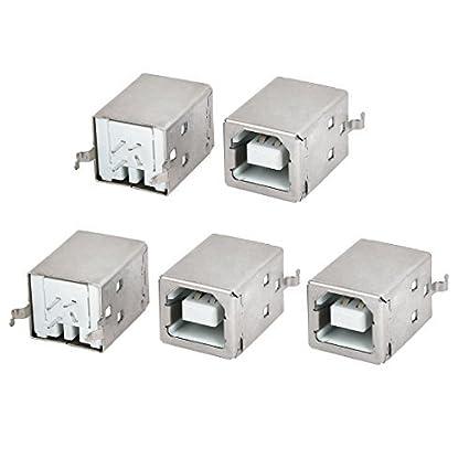 Amazon.com: eDealMax Impresora USB Tipo B 4P 5pcs rectas ...