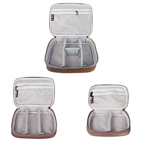 BUBM Travel Electronics Organizer Bag Portable 3 pcs/set Gadget Carrying Storage Bag,Cable Organizer Cases for USB Cables, Hard Drive,Memory Card,Power Bank,External Flash,2 Year Warranty (Coffee) by BUBM (Image #2)