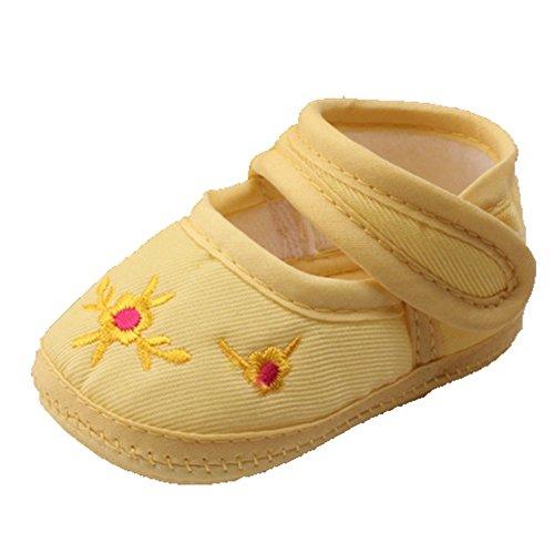 Ohmais Kinder Baby Jungen Baby Mädchen Baby Kleinkind Schuh weich Gelb
