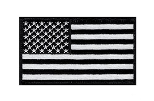 American Flag Tactical morale hook Patch B/W (5