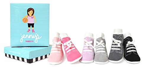 Trumpette Baby Girls Sock Set-6 Pairs, Jenny's-New Assorted Pastels, 0-12 Months (Socks Boys Trumpette)