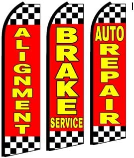 AUTO REPAIR INDUSTRY FEATHER FLAGS BANNER SIGNS SAME DAY SHIP CHOOSE 1 DESIGN