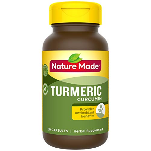 Nature Made Turmeric 500 mg Capsules 60 Count for Antioxidant Support† Packaging May Vary