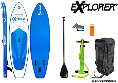 Explorer Sup Inflatable ISUP Hinchable de Aluminio Remo Stand Up Paddle Board Set Bomba Tabla de Surf Aqua Remo Set